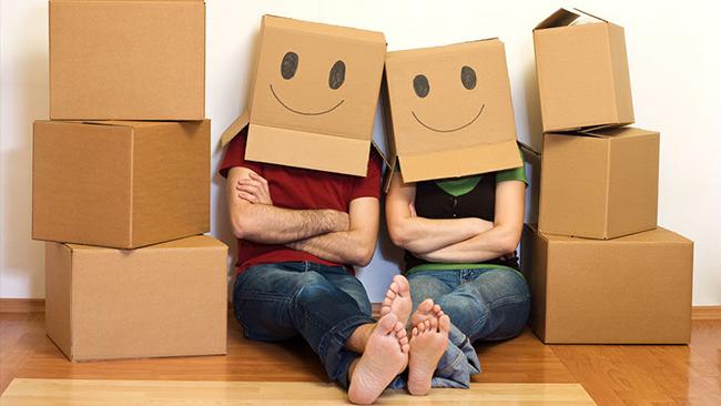 Ordenar la casa después de la mudanza